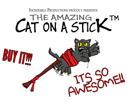 Cat on a stick