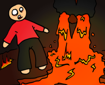 Don't touch the ground hot lava comic