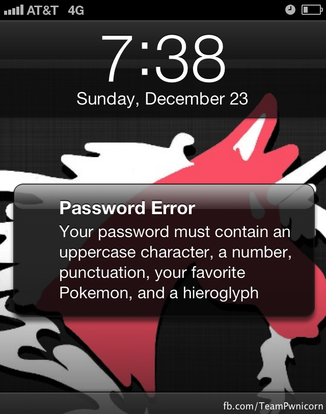 Password Error