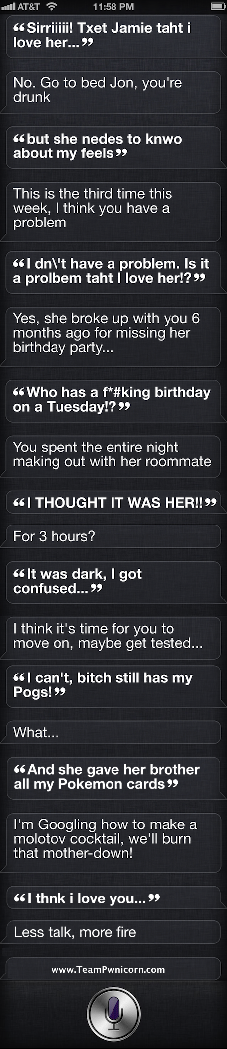 If Siri had a Drunk Text App