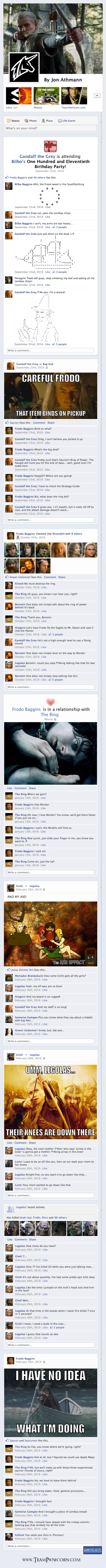 If Lord of the Rings was on Facebook
