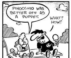 If Pinocchio was a real boy comic