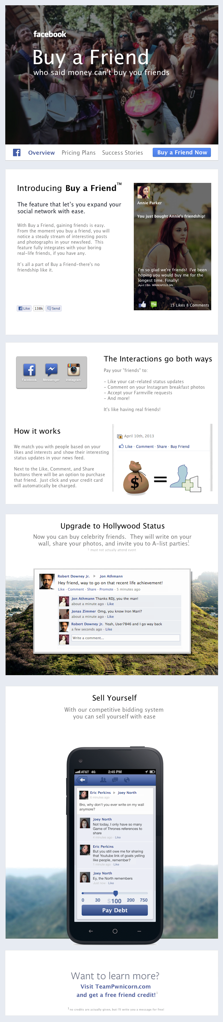 Now facebook lets you buy friends