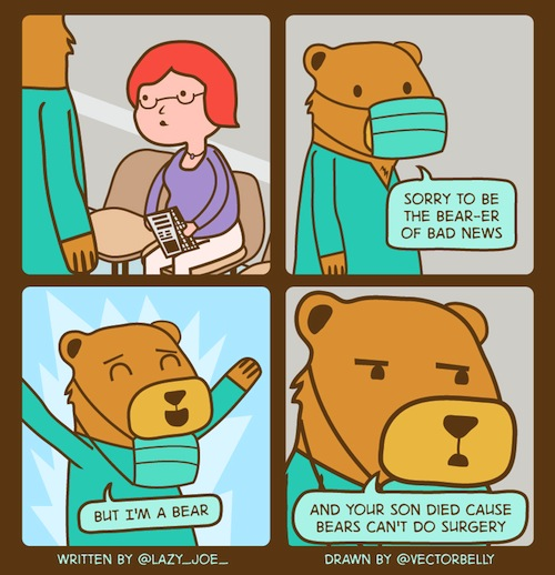 Bears can't do surgery