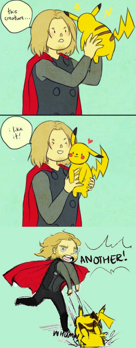 Thor i Like it Thor Likes Pikachu
