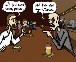 Jesus in a bar