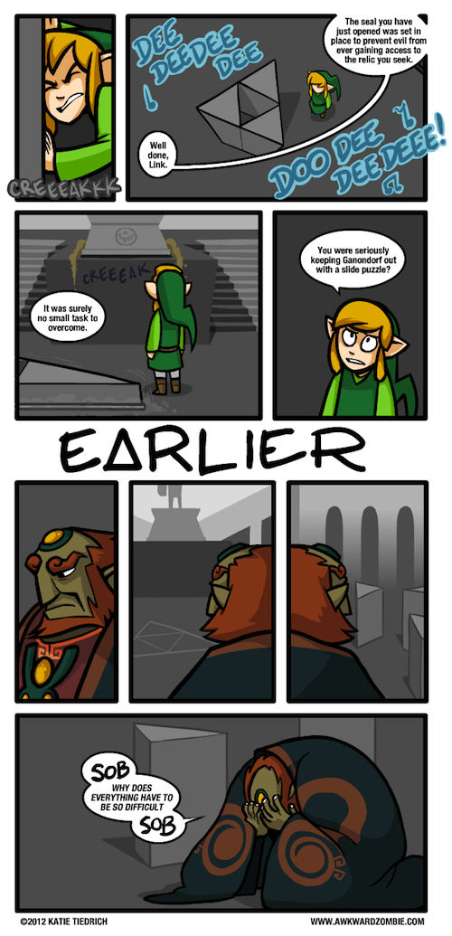 Ganondorf can't do puzzles