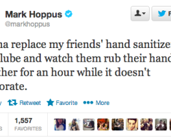 Mark Hoppus and Hand Sanitizer