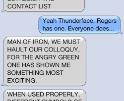 Thor texts Iron Man