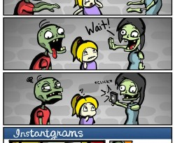 Zombies on Instagram