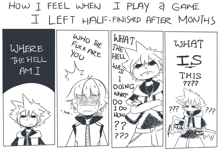 Playing Kingdom Hearts after a couple months