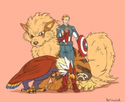 Avengers with Pokemon 7