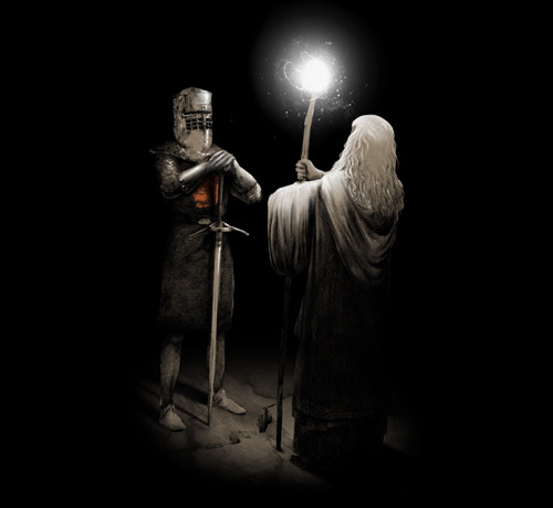 Gandalf vs the Black Knight