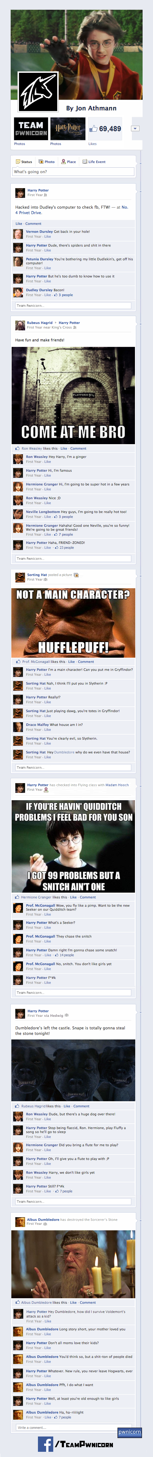 Harry Potter and the Sorcerer's Stone Told Through Facebook by Team Pwnicorn 3