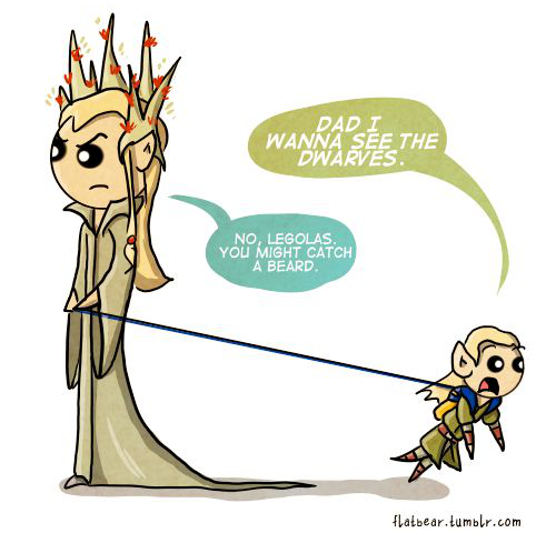 Legolas Dwarves comic