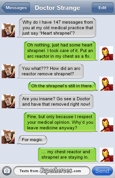 Texts from superheroes iron man