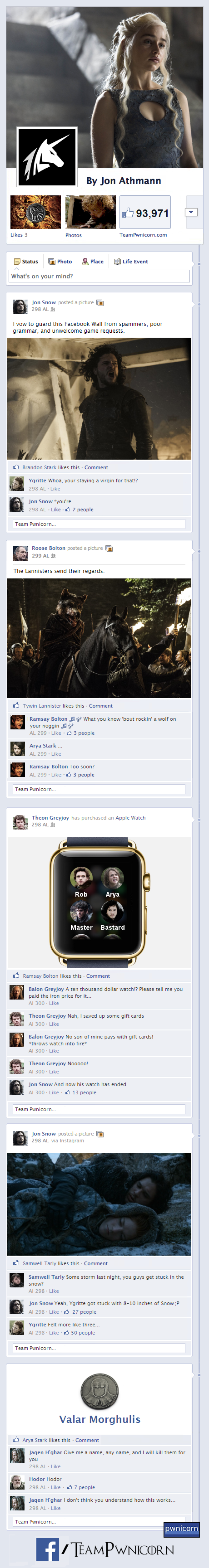 Game of Thrones on Facebook Part 2